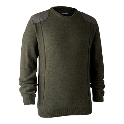 Deerhunter Sheffield Knit M. Rund hals -Green Melange