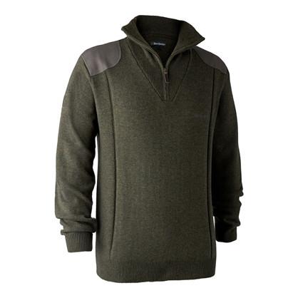 Deerhunter Sheffield Knit zip -Green Melange
