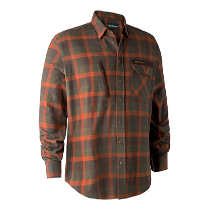 Deerhunter Ethan Shirt -Orange Check