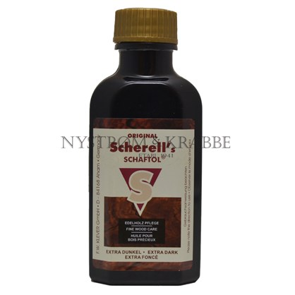 Scherell's skæfteolie ekstra mørk.