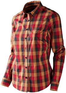 Härkila Lara Lady skjorte, Rød/Sort