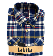 JAKTIA FLANNELSKJORTE - BLÅ