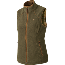Härkila Sandhem Lady Flecce Vest -Dusty Lake Green Melange