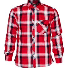 Seeland Moscus Skjorte -Chili Red Check