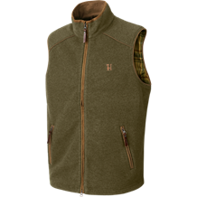 Härkila Sandhem fleece vest -Dusty lake green melange