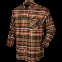 Härkila Newton L/S Skjorte -Dark burnt orange check