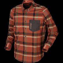 Härkila Amlet L/S skjorte - Dark burnt orange check