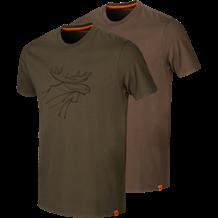Härkila Graphic T-Shirt 2pac -Willow Green/Slate Brown