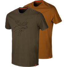 Härkila Graphic T-Shirt 2pac -Willow Green/Rustique Clay
