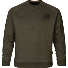 SEELAND Key-point Sweatshirt -Pine Green Melange