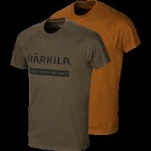 Härkila logo t-shirt 2-Pack -Willow Green/Rustique Clay