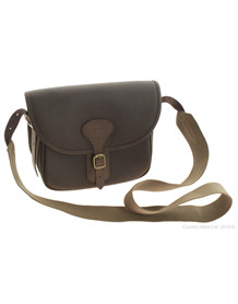 BARBOUR WAX LEATHER CARTRIDGE BAG - OLIVE