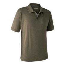 Deerhunter Larch Polo Shirt -Green Melange