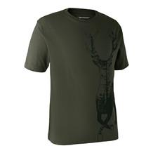 Deerhunter T-shirt m. Hjort -Bark Green