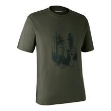 Deerhunter T-shirt med Skjold -Bark Green