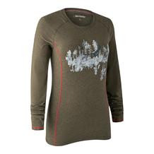 Deerhunter Lady Hazel L/S T-shirt -Green Melange
