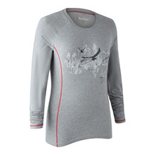 Deerhunter Lady Hazel L/S T-shirt -Grey Melange