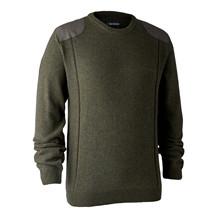 Deerhunter Sheffield Knit M. Rund hals -Green Melange