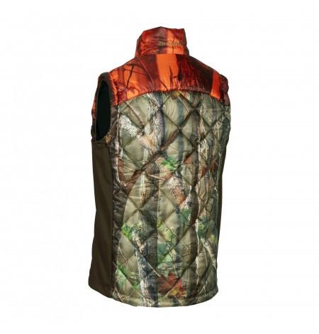 Deerhunter Cumberland Quiltet Vest Orange Camo
