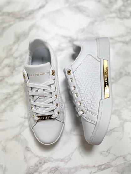 TOMMY HILFIGER Sneakers - Dame - Hvid