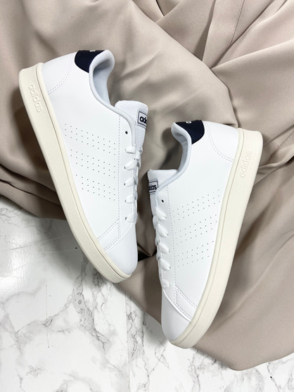 ADIDAS Advantage - Sneakers - Dame - Hvid/blå