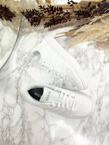 ADIDAS Hoops 2.0 - Sneakers - Dame - Hvid