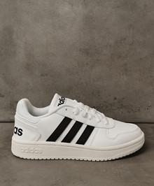 ADIDAS Hoops 2.0 - Sneakers - Dame - Hvid/Sort