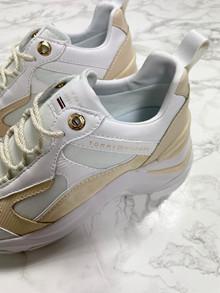 TOMMY HILFIGER Sneakers - Dame - Hvid/beige