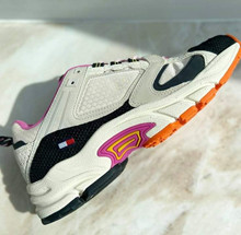 TOMMY HILFIGER - Archive Textile mix runner - Sko - Dame - smooth stone