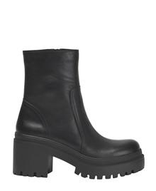 INUOVO - Damestøvle med hæl og lynlås - Sort