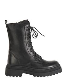 INUOVO - Damestøvle med snøre - Lang - Sort