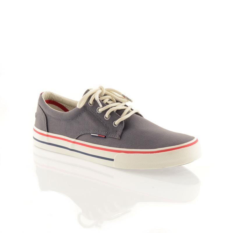 30e57838 Tommy Hilfiger sneakers i mørk grå - Havanna Shoes