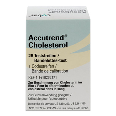 Cholesterol test, Accutrend, Roche