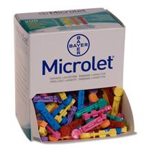 Microlet lancet. Farvet