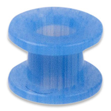 Øredræn, flouroplast. Blå Collar Button