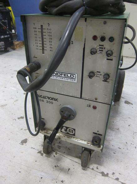 Brugt Migatronic MDA 200 TIG anlæg - 200 amp.