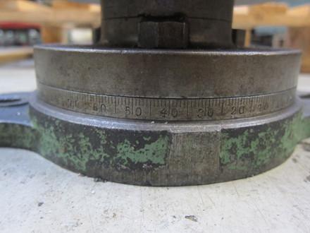Brugt drejeskammel med centrerpatron - Ø165 mm.