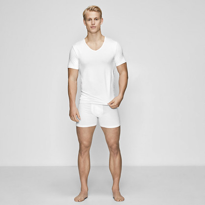 JBS of Denmark, v-neck undertrøye, hvit