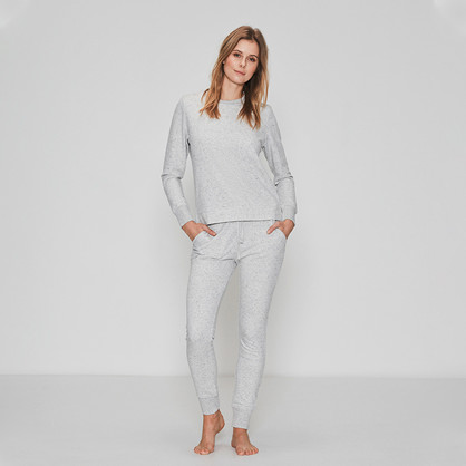JBS of Denmark sweat pants bamboo, Lys grå melange