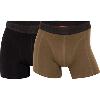 Björn Borg Coffee  Stretch Shorts 2-Pack Olive Night