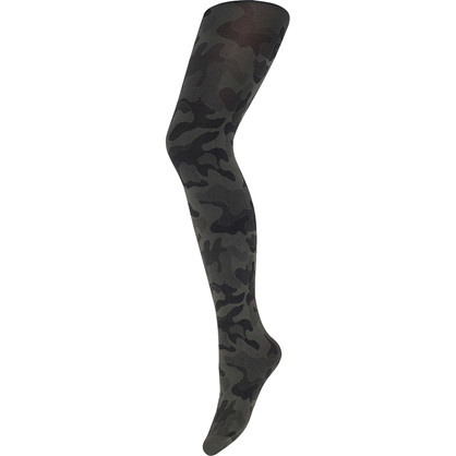 Hype The Detail Tights/Strømpebukser army med rød stripe