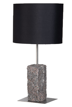Rosa granit bordlampe 50 sort