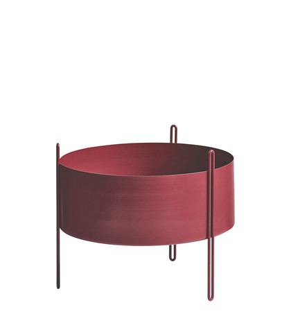 Pidestall flowerpot medium red