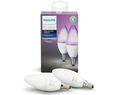 Philips Hue Color E14 ekstra pære 2-pak