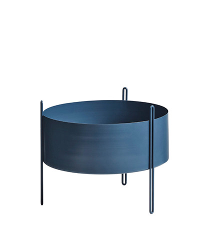 Pidestall flowerpot medium blue