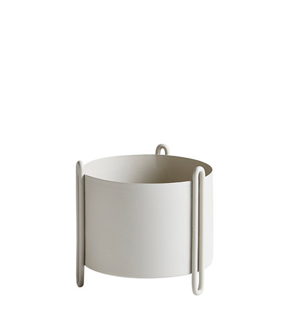 Pidestall flowerpot small grey