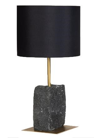 Granit bordlampe 50 sort