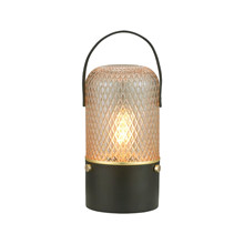 Amber bordlampe smoke