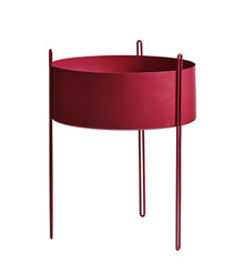 Pidestall flowerpot large red
