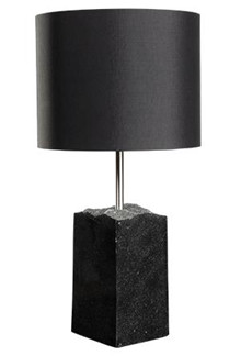 Poleret granit bordlampe 50 sort